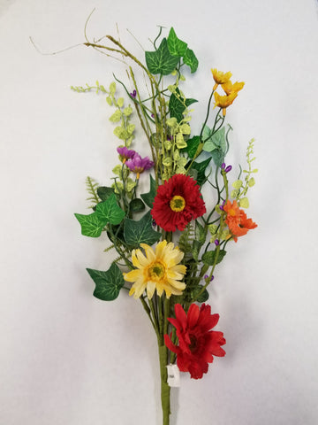"30"" MIXED COLOR GREENERY FLORAL"
