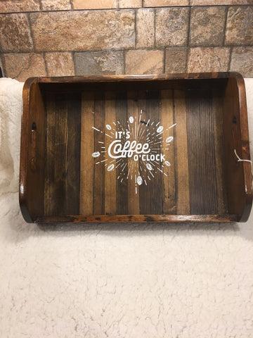 HAND CRAFTED TRAYS WITH CHAULK PAINT
