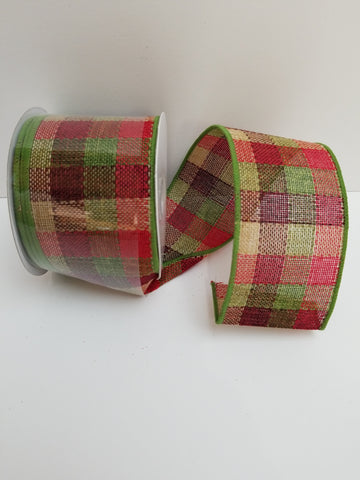MOSS RED BURG TAN PLAID 2.5X10