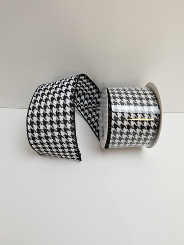 BLACK WHITE HOUNDSTOOTH 2.5X10 YD