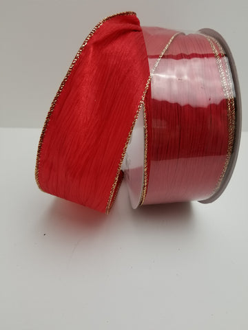 CRINKLE SATIN RED 2.5 X 50YD