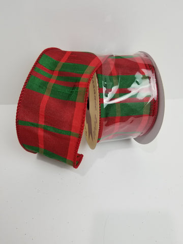 RED GREEN PLAID 2.5X10