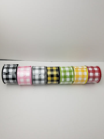 PLAID RIBBON 2.5X10
