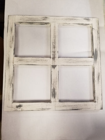 "16""x16"" WHITE WASH WINDOW FRAME"