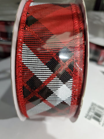 1.5 x 10 ARGYLE RED/BLK/WHITE