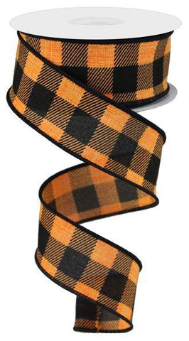 1.5X10 STRIPE CHECK ORANGE/BLK