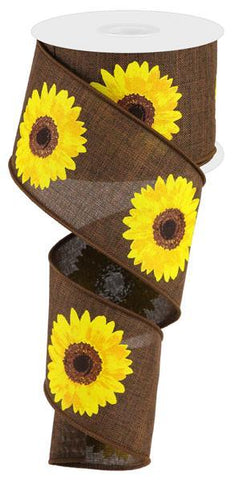 2.5X10 BOLD SUNFLOWER DARK BROWN