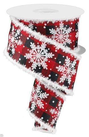 2.5X10 GLITTER SNOWFLAKE SNOW DRIFT RED/BLK/WHT/SILVER