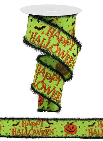 2.5X10 HAPPY HALLOWEEN LIME/ORANGE/BLK