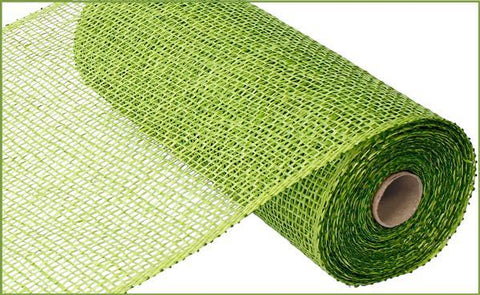"10"" POLY BURLAP MESH LIME GREEN"