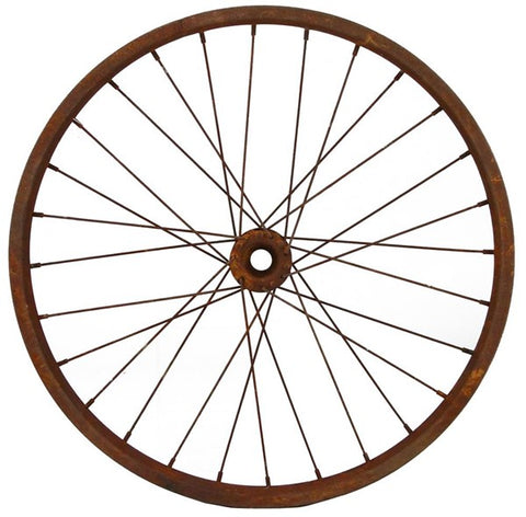 "20""Dia Decorative Bicycle Rim RUST"
