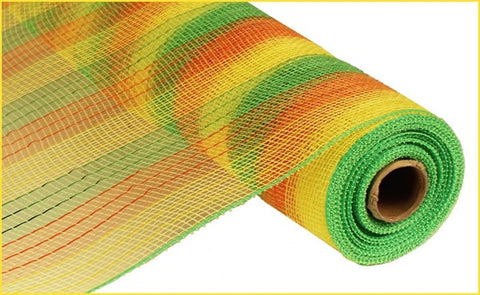 "21""X10YD METALLIC STRIPE LIME/YELLOW/ORANGE"