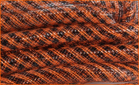 16Mmx10yd Deco Flex Tubing Black/Orange