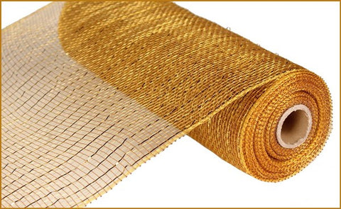 "10""X10YD METALLIC VALUE MESH GOLD/BROWN W/GOLD FOIL"