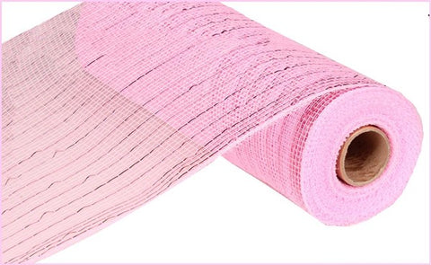"10""X10YD METALLIC VALUE MESH PINK"