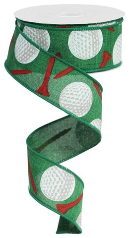 "1.5""X10yd Golf Balls/Royal Emerald/Multi"