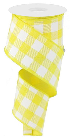 "2.5""X10YD STRIPED CHECK ON ROYAL YELLOW/WHITE"