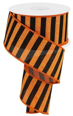 "2.5""X10 MEDIUM HORIZONTAL STRIPE ORANGE/BLK"