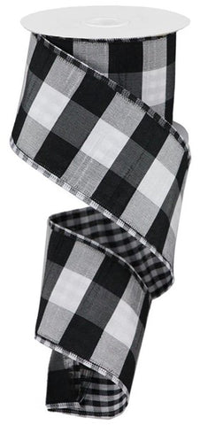 "2.5""X10yd Large/Small Check BLK/WHITE"