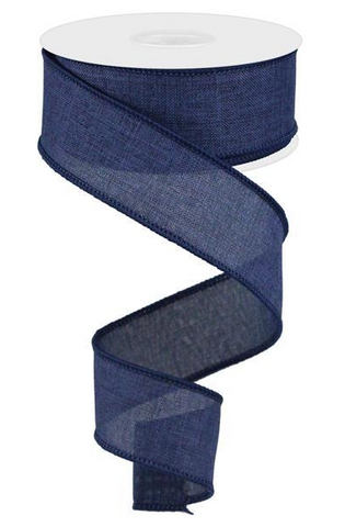 1.5X10 SOLID LINEN NAVY BLUE