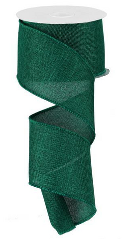 2.5X10 SOLID LINEN EMERALD GREEN