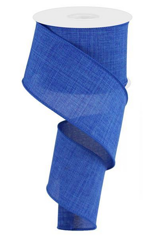 2.5X10 SOLID LINEN ROYAL BLUE