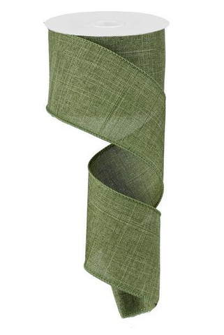 2.5X10 SOLID LINEN FERN GREEN