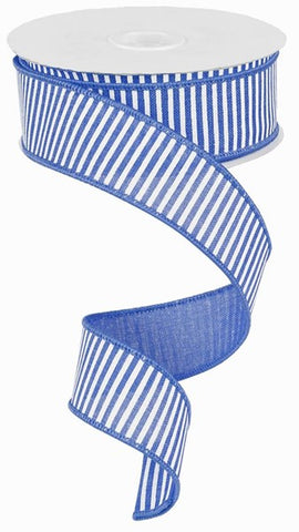 "1.5""X10yd Horizontal Stripes/Royal"