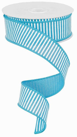 "1.5""X100ft Horizontal Stripes/Royal BLUE/WHITE"
