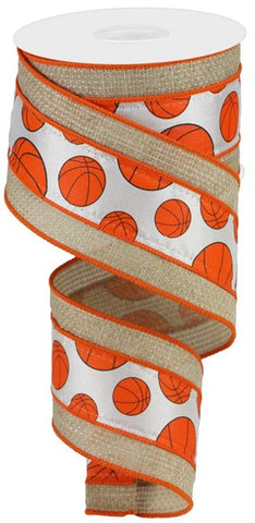 "2.5""X10yd Basketball W/Cross Royal"