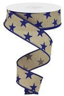 1.5X10 NATURAL/NAVY BLUE STARS
