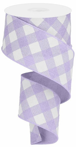 "2.5""X10YD DIAGONAL CHECK LAVENDER/WHITE"