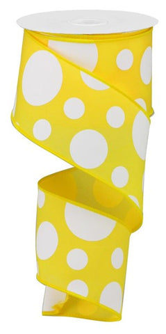 "2.5""X10YD GIANT THREE SIZE DOT/PG YELLOW"