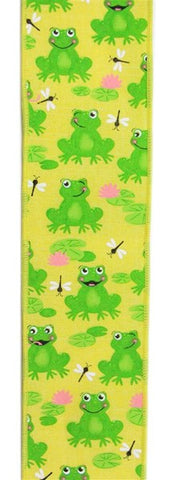 "2.5""X10YD FROGS ON ROYAL YELLOW/GREEN/PINK/WHITE"