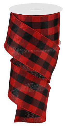 "2.5""X10 BLACK/RED BUFFALO PLAID"