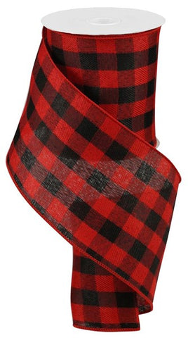 "4""X10 BLACK/RED BUFFALO PLAID"