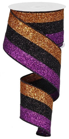 2.5X10YD 3 IN 1 GLITTER FUCHSIA/BLK/COPPER