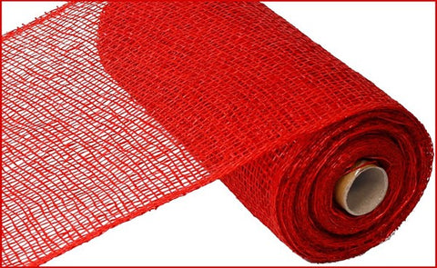 "10""X10YD POLY BURLAP MESH RED"