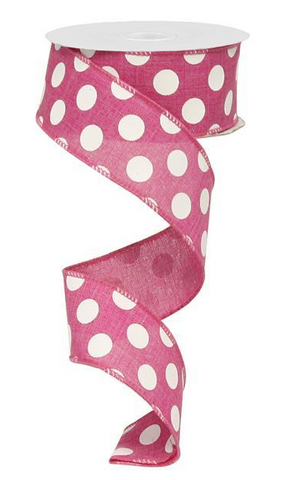 1.5X10 MEDIUM MULTI DOT HOT PINK
