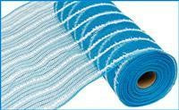 "10"" METALLIC COTTON DRIFT MESH TURQUOISE"