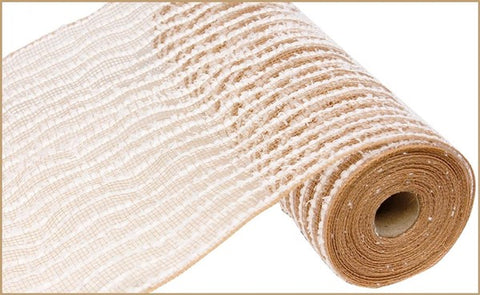 "10.5""X10YD COTTON DRIFT/PP MESH NATURAL/WHITE"