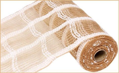 "10.5"" COTTON DRIFT/JUTE CHECK MESH NATURAL"
