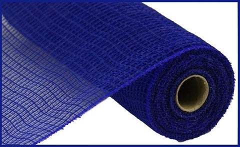 "10""X10 FAUX JUTE CHECK ROYAL BLUE"