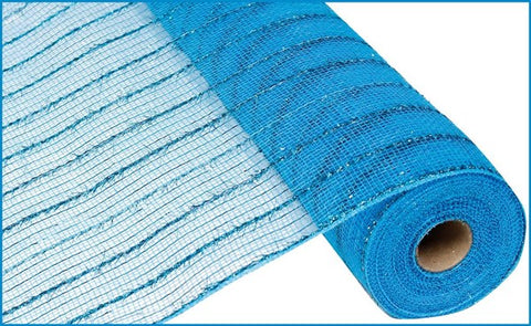 "21""X10YD TINSEL/PP/FOIL MESH TURQUOISE"