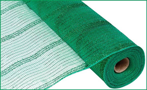 "21""X10YD WIDE TINSEL/PP/FOIL MESH EMERALD GREEN"