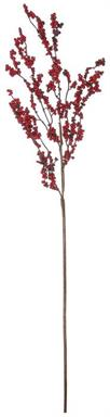 "CLUSTER BERRY BRANCH, 43""; RED/BURGUNDY 43 IN."