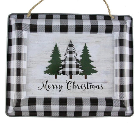 "12""L X 9.5 Merry Christmas/Trees Sign"
