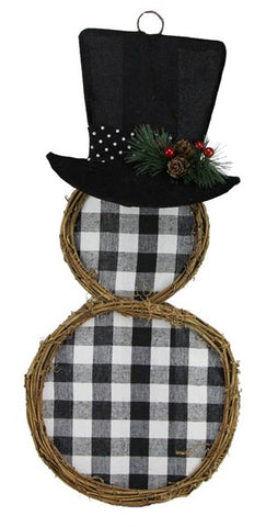 "22""H X 10""L Snowman Wall Decor"