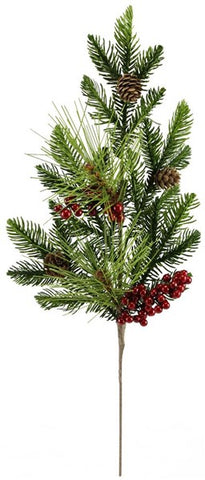 "21""L Berry/Pine cone/Fir Pick red/green"