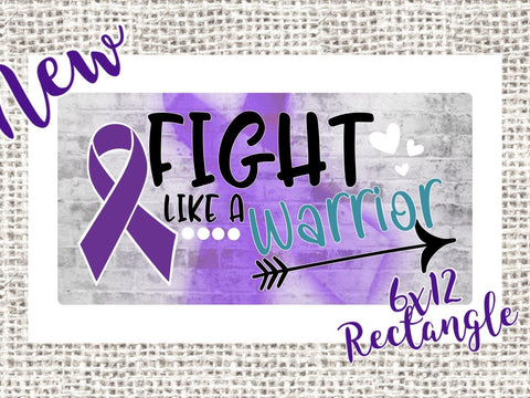 FIGHT like a WARRIOR Purple Wreath Sign, Pancreatitis & Panreatic Cancer Awareness Ribbon Wreath Sign, 7x12 Wreath Sign, Pancreatitis Aware
